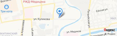 Орленок на карте Астрахани