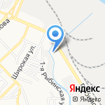 Зеленый город на карте Астрахани