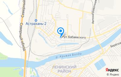 Местоположение на карте пункта техосмотра по адресу г Астрахань, ул Туркменская, д 9