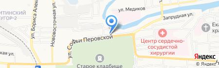 Волга-Строй на карте Астрахани