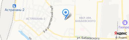 Радуга на карте Астрахани