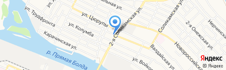 Revolution street на карте Астрахани