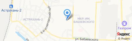 Хомка на карте Астрахани