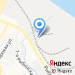 Киоск по продаже фастфудной продукции на карте Астрахани