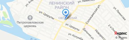Эванти на карте Астрахани