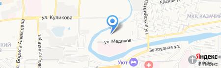 Снежарина на карте Астрахани