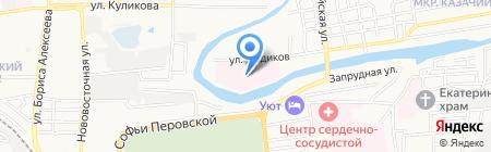 Областная детская клиническая больница им. Н.Н. Силищевой на карте Астрахани