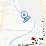 Зелёная лавка на карте Астрахани