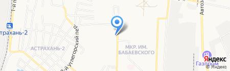 Валида на карте Астрахани