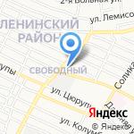 Бизон на карте Астрахани