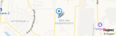 Мелисса на карте Астрахани