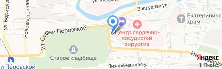На дровах на карте Астрахани