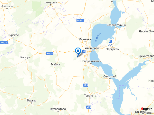 поселок Красноармейский на карте