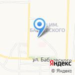Московская ярмарка на карте Астрахани