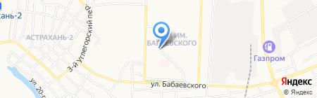 Натали на карте Астрахани