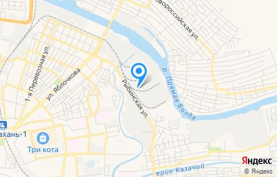 Местоположение на карте пункта техосмотра по адресу г Астрахань, ул Рыбинская, д 9 стр б