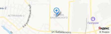 У трех берез на карте Астрахани