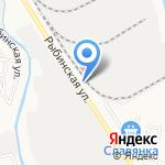 Локомотив на карте Астрахани