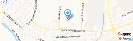 Городская поликлиника №2 на карте Астрахани
