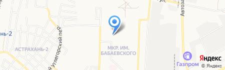 Средняя общеобразовательная школа №28 на карте Астрахани