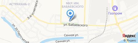 Клиника доктора Калининой на карте Астрахани