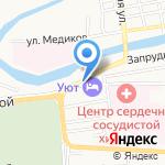 Пиранья на карте Астрахани