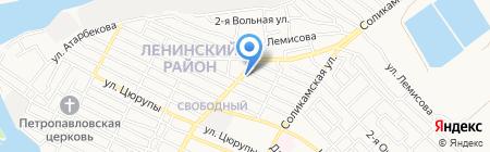 Лето на карте Астрахани