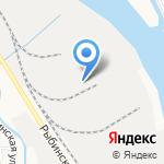 Астращебень на карте Астрахани