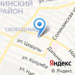 Пенная бухта на карте Астрахани