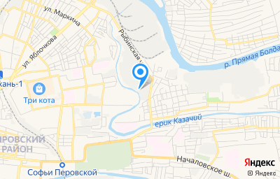 Местоположение на карте пункта техосмотра по адресу г Астрахань, ул Рыбинская, д 1/12