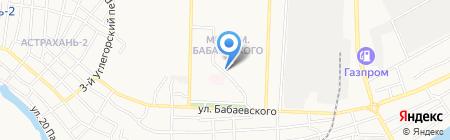Магазин хлебобулочных изделий на карте Астрахани