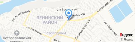 Березка на карте Астрахани