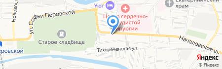 Посейдон на карте Астрахани
