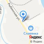 Изба Красна на карте Астрахани
