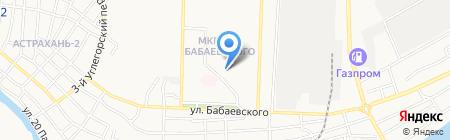 УГОЛ на карте Астрахани