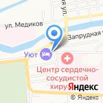 Аслар на карте Астрахани