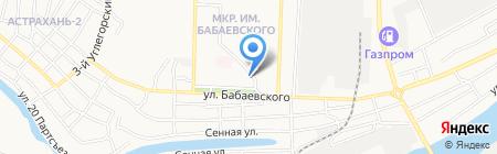 Мясная лавка на ул. Бабаевского на карте Астрахани
