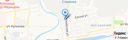Автолегион на карте Астрахани
