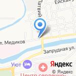Пивная станица на карте Астрахани