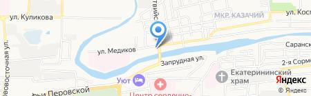 Имплозия на карте Астрахани