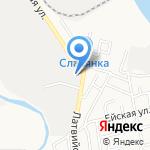 Правый руль на карте Астрахани