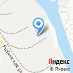Роза ветров на карте Астрахани