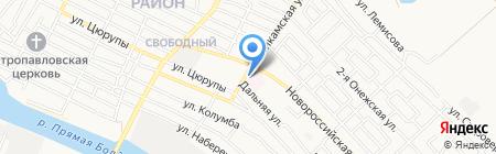 На здоровье на карте Астрахани