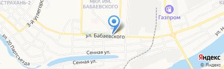 Магазин цветов на ул. Бабаевского на карте Астрахани
