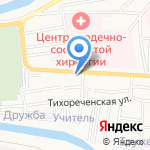 Восток-Запад на карте Астрахани