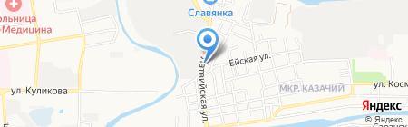 У дороги на карте Астрахани