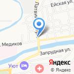 Отражение на карте Астрахани