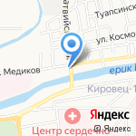 Ясмина на карте Астрахани