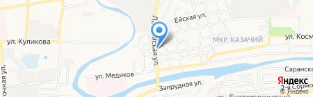 Артэс на карте Астрахани
