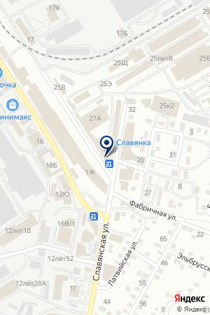 АЗС №2 на карте Астрахани